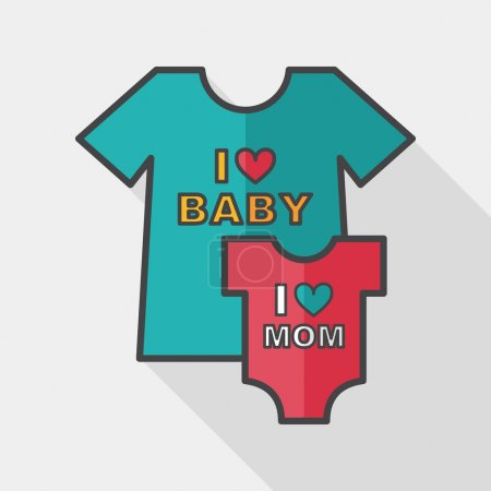 Family clothes flat icon with long shadow,EPS 10