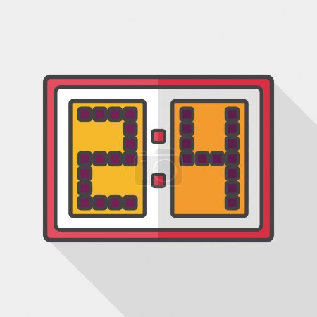 Scoreboard flat icon with long shadow,eps10