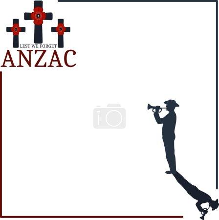 Anzac day. Greeting card