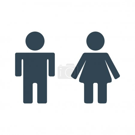 Illustration for Male and Female Icon. Man, Woman icon - Royalty Free Image