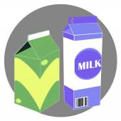 Vector milk carton pac
