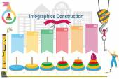 Conceptual construction project.Building infographics.