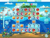 Fish world- playing field for the computer game or web design