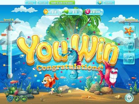Fish world example screen you won