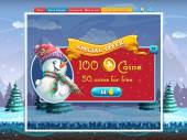 Winter holidays special offer window for the computer game