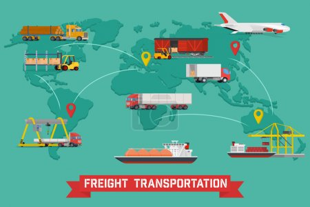 Freight Transport and Packaging Infographics