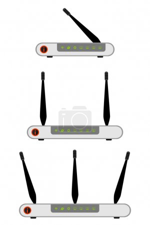 Wireless ADSL Router Icon. Vector Illustration on ...