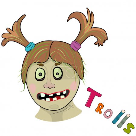 Scary girl troll