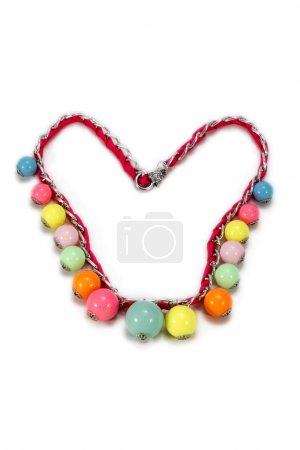 Handmade necklace with colorful beads