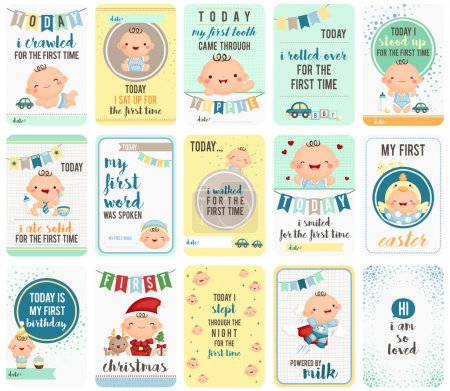 Baby Boy Stepping Stone Cards