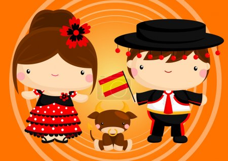 Illustration for Spain Traditional Costume - Royalty Free Image