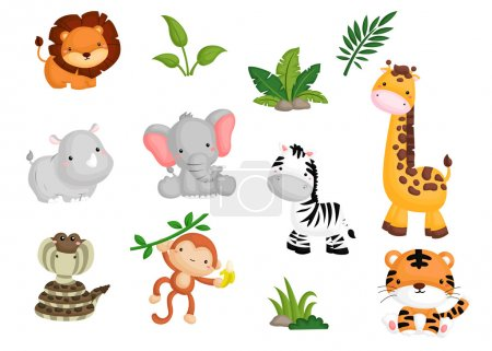 Illustration for Jungle Animal - Royalty Free Image