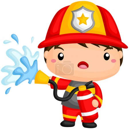 Cute Fireman Working