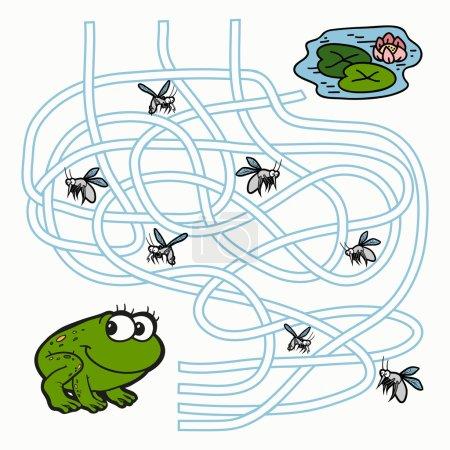 Maze Game for children (frog)