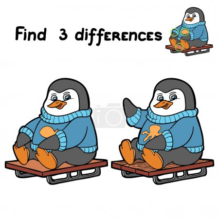 Find 3 differences (penguin)