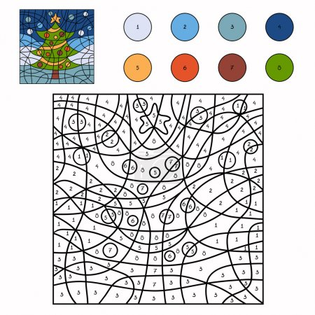Color by number (christmas tree)