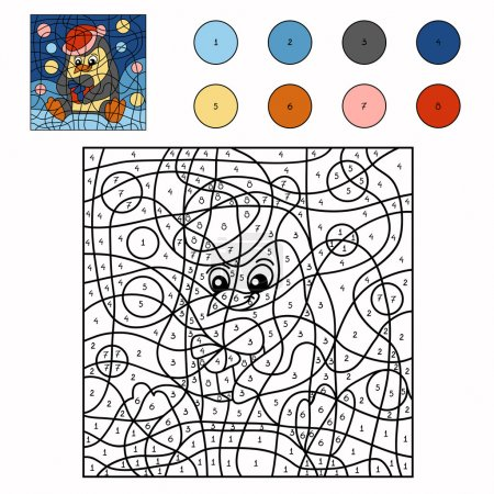 Color by number (penguin)