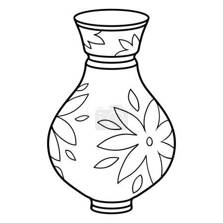 Coloring book (vase)