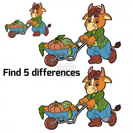 Find 5 differences (cow)