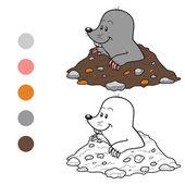 Coloring book (mole)