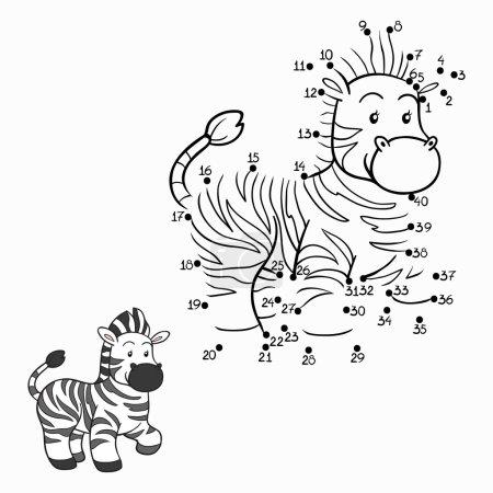 Illustration pour Jeu de nombres (zèbre ) - image libre de droit