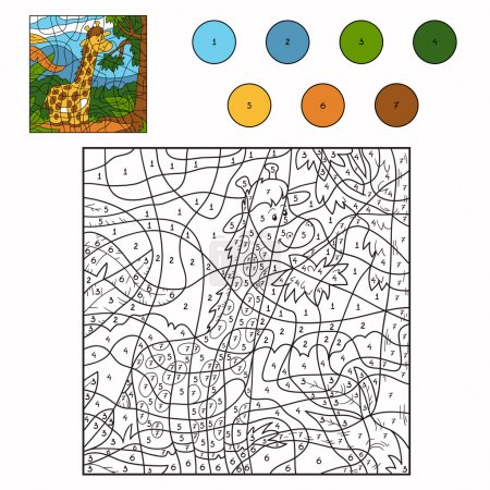 Color by number (giraffe)