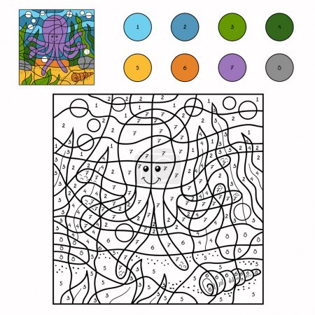 Color by number (octopus)