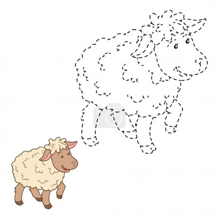 Connect the dots (sheep)