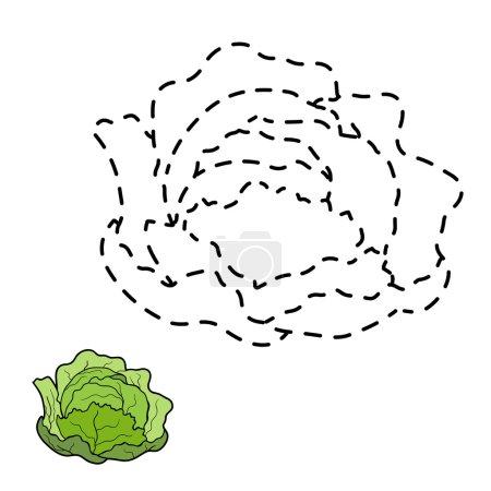Illustration pour Jeu ou enfants : Connectez les points (chou ) - image libre de droit