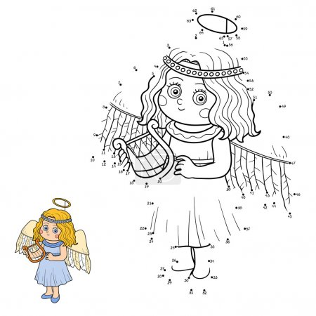 Numbers game for children: Halloween characters (angel)