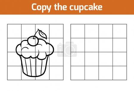 Copy the picture, education game: cupcake...