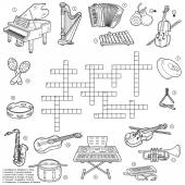 Colorless crossword about music instruments