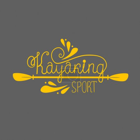 kayaking background with lettering