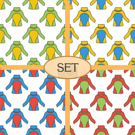 Set of seamless pattern with thermal underwear