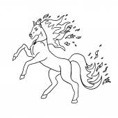 horse without color
