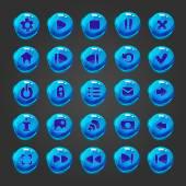 Velká sada vektorové tlačítka pro herní design
