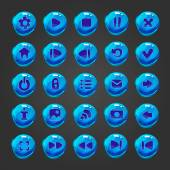 Groß-set Vektor-Taste für game-design