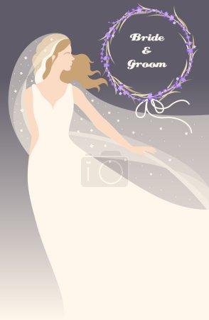 bride with lavender