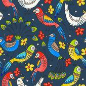 Varrat nélküli papagájok és a páva