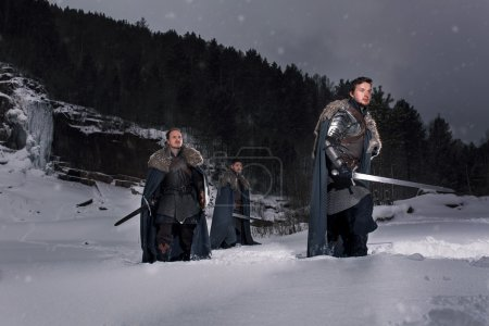 Medieval knights Prepare for battle as style Game of Thrones in