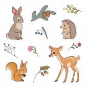 """Постер, картина, фотообои """"милые лесные животные"""""""