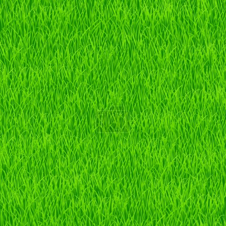 Illustration for Green grass. Seamless pattern for your desig - Royalty Free Image