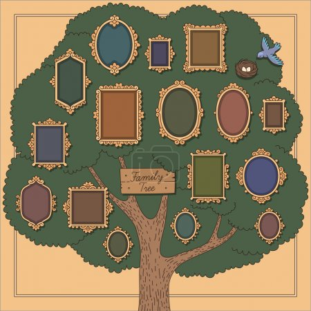 Family tree with frames