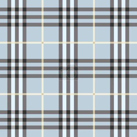 Seamless modern and trendy light blue plaid pattern