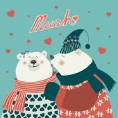 Couple of kissing bears