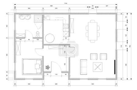 Photo pour Plan d'architecte blanc pour la construction de maisons personnelles - image libre de droit