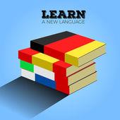 Learn language illustration