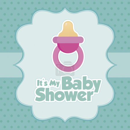Abstract baby shower background with some special ...