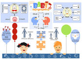Infographics and interesting facts from the life of newborns and preschoolers