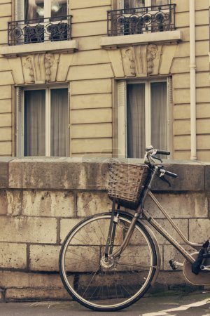 Vintage bicycle in the street